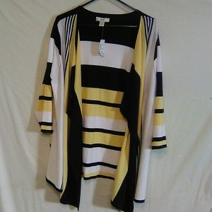 Cj banks stripe cardigan. 1X.  #256